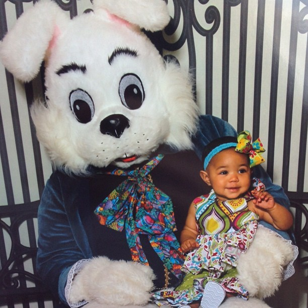My #baby first #Easter #bunny meeting #babylife #daddysgirl #girls #cute