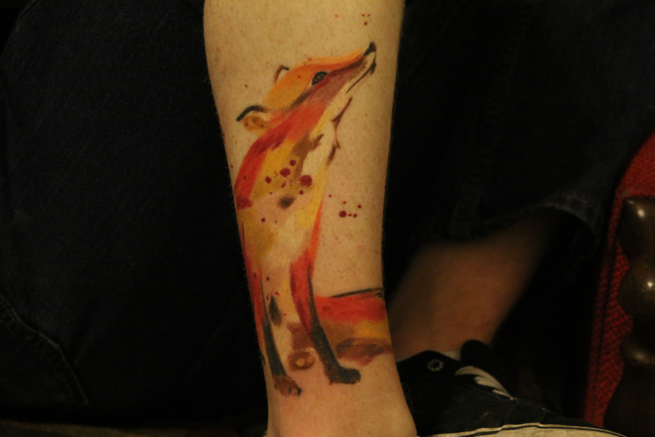 fuckyeahtattoos:  This is my new fox tattoo. Done by Jonathan Marquez, Twisted Tattoos San Antonio Tx.
