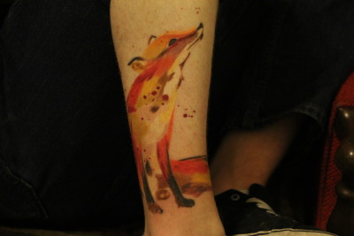 This is my new fox tattoo. Done by Jonathan Marquez, Twisted Tattoos San Antonio Tx.