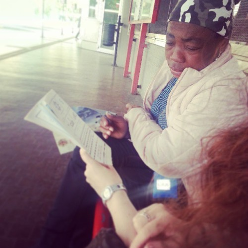 Preaching  to a woman from Nigeria today at the bus station.  She never went to school and does not know how to read or write.  She has been in Bologna for about 2 years. Amazing experience to have today,  my second to last day on this amazing journey. Sad that it's almost over, but instead for the next adventure that awaits me, wherever it may be.  (at Bologna)