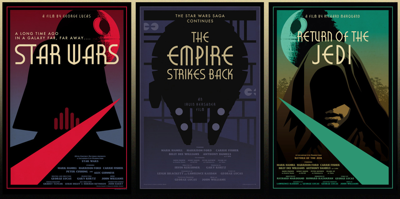 For Star Wars Day:Here at last is the final third of the Retro-Triptych I've been putting together for the last few years. It will be available this summer, just in time for the 30th anniversary of Return of the Jedi!