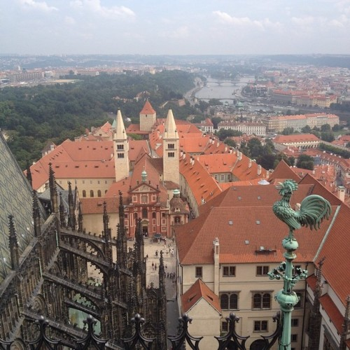 Top of the tower at St. Vitus Cathedral (at St. Vitus Cathedral)