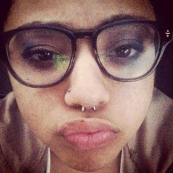 Just got my #septum done!!?! #Enigma #ChrisGreer #glasses #make^ #nostril  (at Enigma Tattoos & Body Piercings)