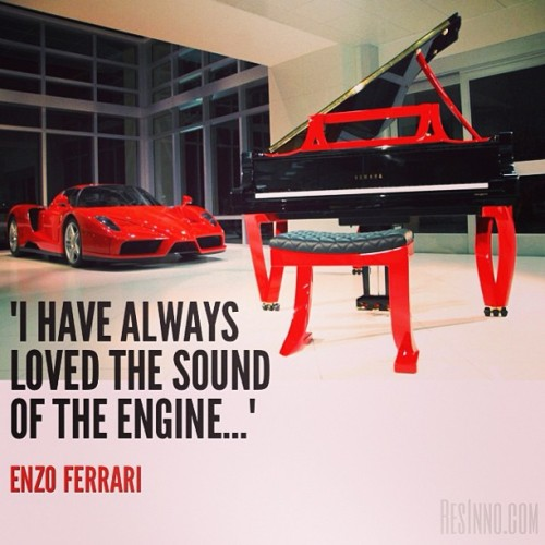 """I have always loved the sound of the engine…"" - Enzo Ferrari #piano #art #yamaha #design #architecture #interiordesign #architecturaldigest #ferrari #red #dwell #enzo #enzoferrari #photooftheday"