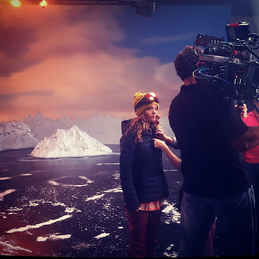 US paralympics snowboarder Amy Purdy at NBC Studios for Road to Sochi promo shoot.
