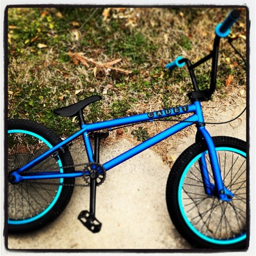 #Lo-Fi #bmx #bike #biking #Bicycle #verdecadet #cadet #verde #blue #whip #newwhip