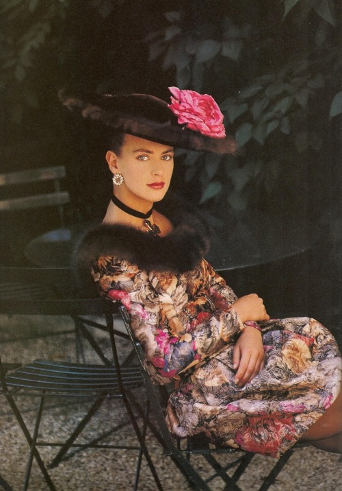 """Paris Couture Romance"", Vogue UK, October 1987Photographer : Patrick DemarchelierModel : Laetitia Firmin Didot"