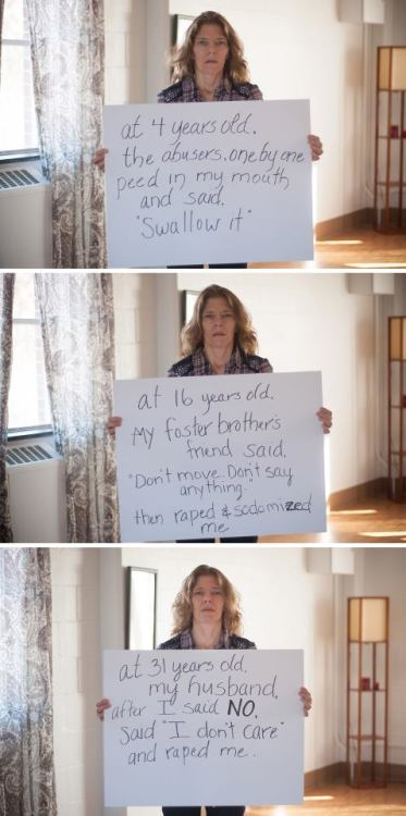 cynthiacloud:  raiseyourweapon:  alcohol-is-sexyy:  The many faces of rape.  This makes me sick to my stomach.   As disturbing as this is, I think it's important to give these women voices.  They are survivors.