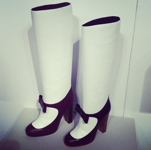 Celine's take on Mary Jane boots for pre-fall 2013.