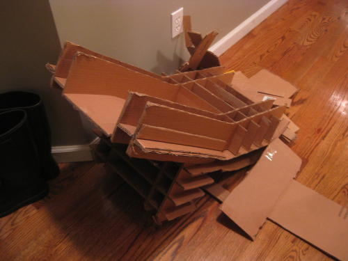 The ending of cardboard chair.
