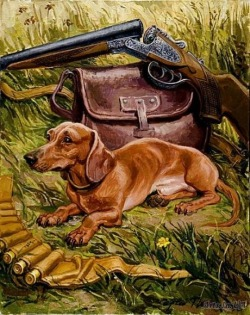Dachshund - Little Hunter by Pozniak Sergei on arts-ua.com