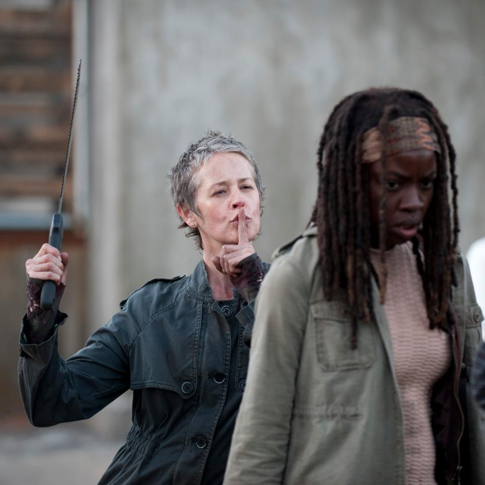 The Walking Dead behind-the-scenes Carol is the best!