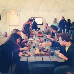 food. community. #rockaway (at MoMA PS1's VW Dome 2)