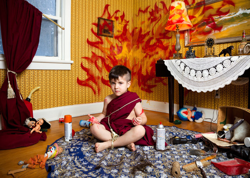 Jonathan Hobin Re-Creates the World's Most Infamous Tragedies with Children more of the album  here