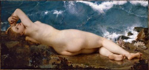 """La Perle et la vague"" (1862), Paul-Jacques-Aimé Baudry."