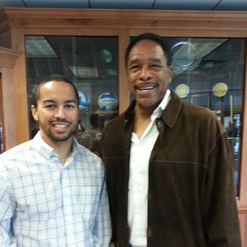 @DaveWinfieldHOF and I. Both from St Paul, both played at Jimny Lee, both went to Central, both went to college in the Twin Cities and between us we have a World Series Champioship ;) (at Gangelhoff Center - Concordia University)