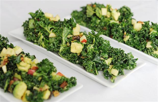 sfsocialight:  eat more. kale. Kale is on the menu everywhere I go. Why has this tasty green become so popular out of nowhere? (Not that I mind.) But, what happened? I started to believe that maybe there was an overgrowth of kale back on the farms so they had to convince all the restaurants to buy it at the same time to get rid of it. (I swear I'm not a conspiracy theorist.)Well, as you may have already guessed the above is not the case. The reality is that kale is just super good for you, and hip SF restaurants catch on quick. Here are the top 10 reasons you should eat more kale:1. High fiber content makes it great for digestion.2. Kale's loaded with iron (has more than beef), which helps with liver function, oxygen circulation, and cell growth. 3. It's high in Vitamin K, which prevents against cancer, blood clotting, and Alzheimer's disease. It also aids bone health.4. High antioxidant content. (We all know we want more antioxidants!)5. Kale's an anti-inflammatory food. The Omega 3 fatty acids that it contains fight against asthma, arthritis, and autoimmune disorders.6. It lowers cholesterol levels.7. Kale's high in vitamin A, which is great for your vision, lungs, and skin. 8. It's filled with Vitamin C, which is good for your metabolism, hydration levels, and immune system. 9. Kale has more calcium than milk. Say goodbye to a bloated stomach and hello to bone health.10. It's a detox food. The fiber and sulfur make it your body's best friend after an alcoholic-drink-filled weekend.(For more about kale's health benefits check out:http://bit.ly/H9AvoR.)It used to be an apple a day to keep the doctor away, I'm thinking we need to change that to a kale salad a day…(To see this post and more check out:http://thesocialight.com/.)