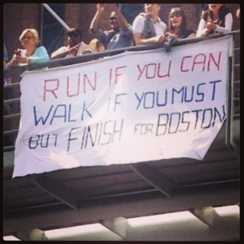 eatcleanmakechanges:  irisheyes1982:  Awesome sign at #LondonMarathon in honor of #Boston! #bostonstrong #bostonmarathon #runchat  very cool.