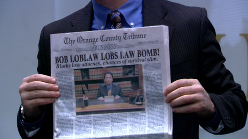 I'm in love with Bob Loblaw.