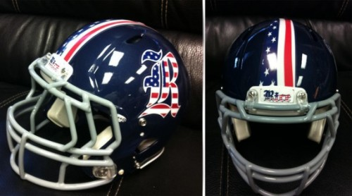 Rice American flag themed helmets for Armed Forces Bowl [Photo] For the latest and greatest threads to hit the market, visit Gamedayr Uni Blog.