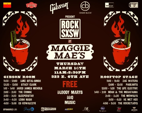 he met her at sxsw. 3:50-4:20 thursday 3/14 323 e. 6th ave                                                               ☠⚔