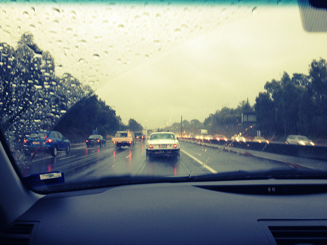 A rainy summer day in Melbourne. I'd take a rainy winter day in SF over this. But of course, Melbourne being Melbourne, it was hot and sunny again this afternoon.