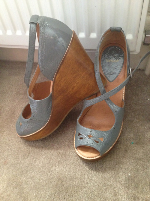 Ultimate ebay bargain. Topshop wedges - £3.70  Very very happy!!