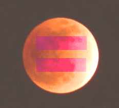 equality moon :0)  original moon image by Charles W Clark (LunarEclipse12-10-2011.jpeg) [CC0], via Wikimedia Commons - in public domain if you like this image feel free to use it