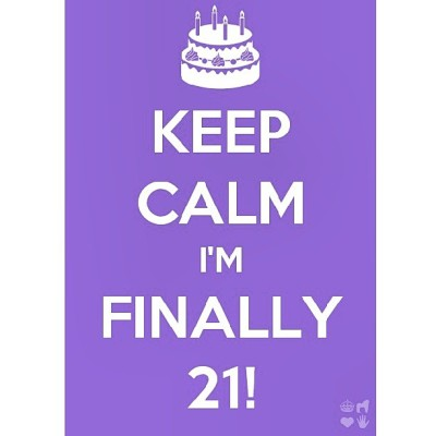 The day has come!!!! My birthday!!!!