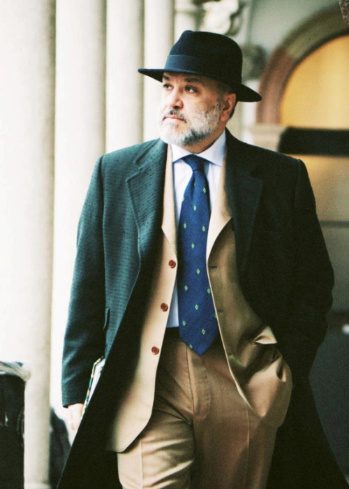 thestylebuff:  On the street, Mr Gianni Fontana, Milano