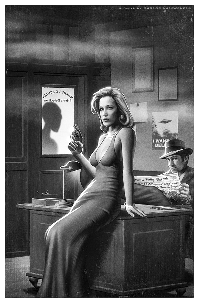 geekmythology:  X-FILES Noir by *Valzonline
