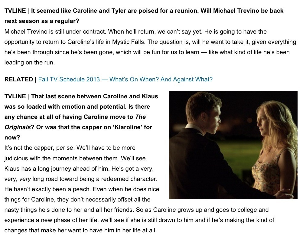 Some Forwood and Klaroline Scoop for TVD Season 5