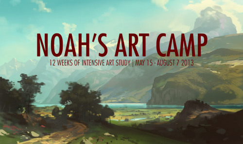 noahbradley:  Noah's Art Camp: 12 weeks of intensive art study this summer with Noah Bradley