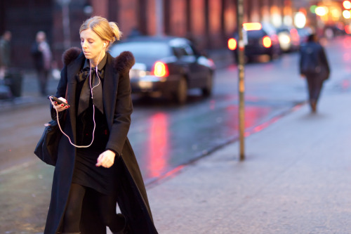 Woman in Soho - Winter Outerwear