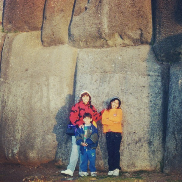 #TBT with the family in Cuzco, around '99 or 2000. Somehow those hats happened.