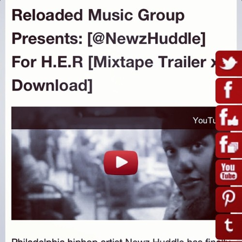 "Philadelphia hiphop artist Newz Huddle has finally released ""For H.E.R."" on Valentine's Day. ""H.E.R."" which stands for Harsh Emotions and Reality depicts various ordeals with women. If you think this mixtape is only for the ladies, you are sadly mistaken. But then again, there's only one way to find out . Enjoy this body of work from Newz Huddle. #art #artistic #artabovereality #cool #dope #expression #global #hot #inspiring #music #new #philly"