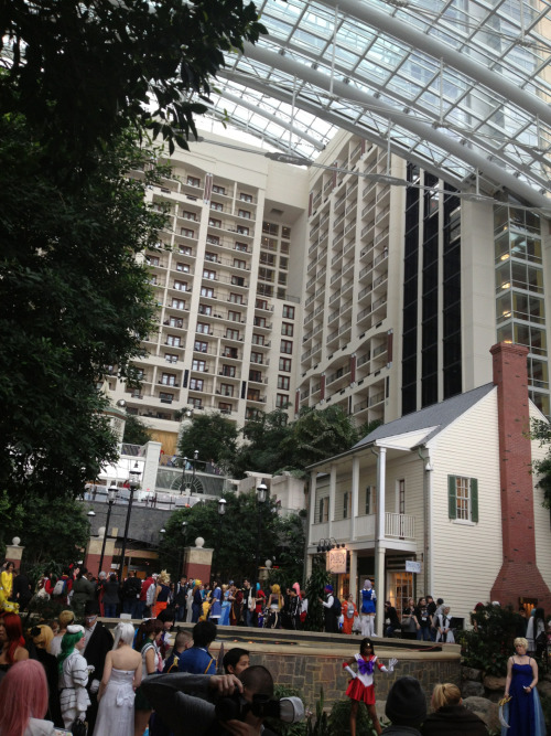 katsuconpr:  Atrium vs. the Gazeebo  Though the gazeebo area is open, I don't think the atrium cosplayers/ photoshoots & group meet-ups will stop so be sure to go say check it out!