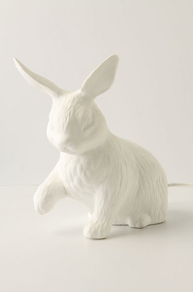 andreakang:  Rabbit Lamp by Anthropologie
