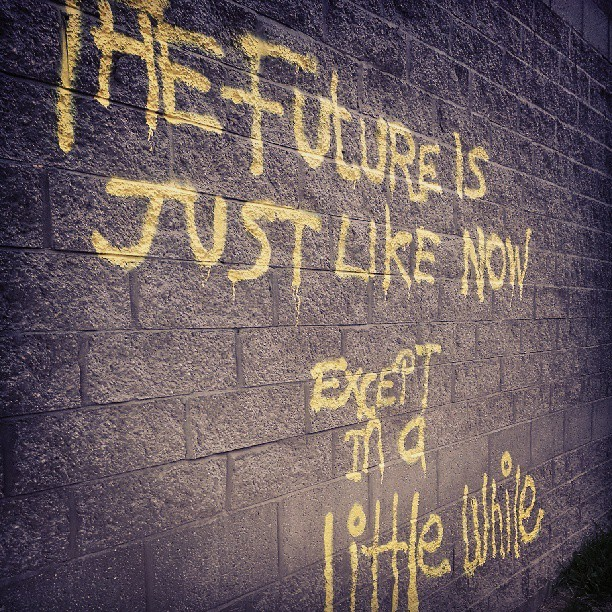 Just saw this coming home from #meeting #wall #graffiti #graphics #neon #yellow #wall #love #truth #statement
