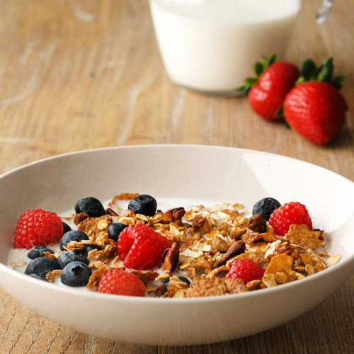 Nutty Granola Cereal: Serve this versatile granola with milk or on top of yogurt for a tasty breakfast.