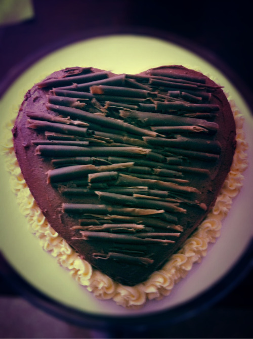 Valentines Day triple chocolate cake.