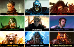 thecatwhowalksbyherself:  Magic: The Gathering: Male planeswalkers and their tropes