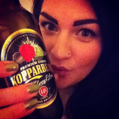 Kopparberg and green nail polish. Weirdo.