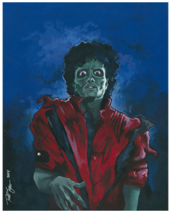 My THRILLER portrait is available as a print for the first time ever here: http://society6.com/ToddSpence/THRILLER-ua9_Print - Society 6