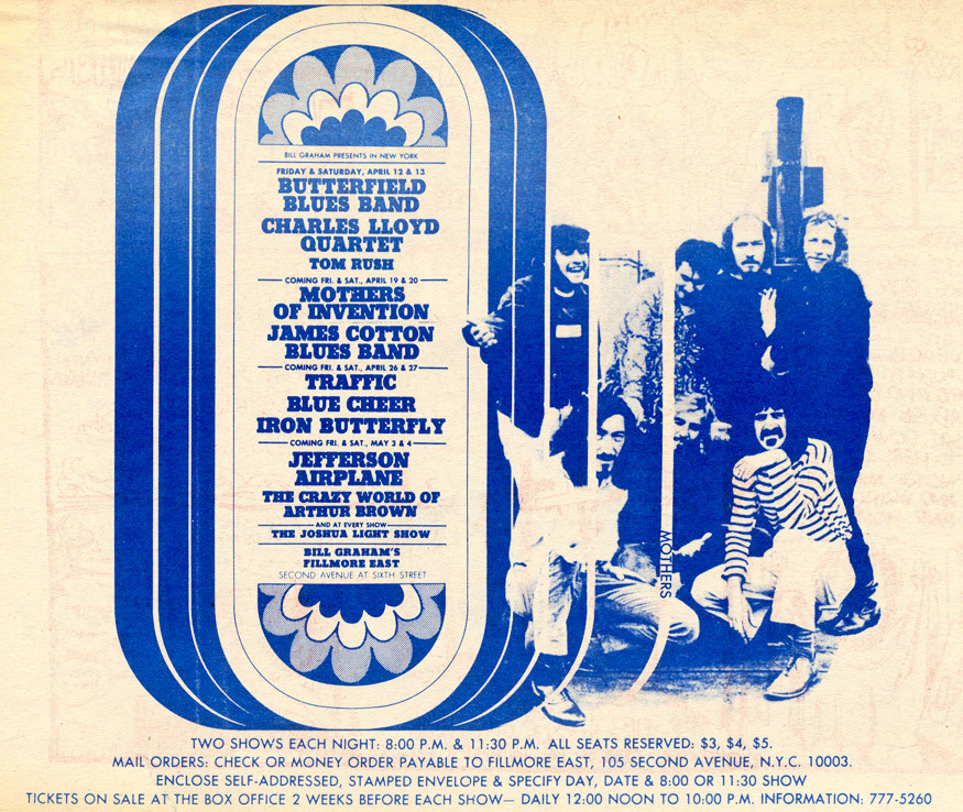 April 12 - May 4, 1968 at the Fillmore East