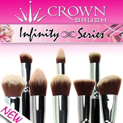 For you Vegans: Crown Brush has created a cruelty free line!!! Check them out I use a lot of Crown Brush products in my kit. Not to mention the Founder/CEO is extremely nice and caring! He donated many Crown Brush brush kits to an event that is near and dear to my heart.   It's their Infinity Line.  Buy them here: http://crownbrush.us/new-products-c-3_63/?zenid=rerm32gljg8c0evd7jffqq57o2
