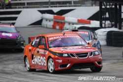 Saab 9-3 at  the 2012 X-Games Rallycross Championship