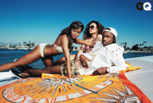 GQ has A$AP in a preppy yacht club gettup in this months issue and I love it. Couldn't be more stoked to see him styled in a pair of Vault Slip-Ons I sent too.