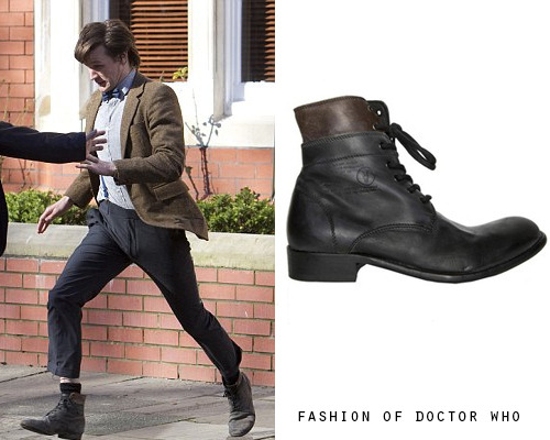 Eleventh Doctor - Worn in Multiple Episodes All Saints Layer Boots-Sold Out