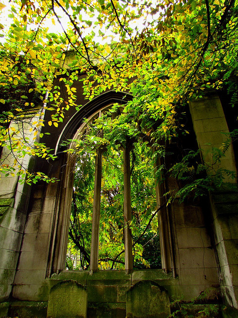 abandonedography:  Ancient Arch, St Dunstan-in-the-East, London, England by franziphotos